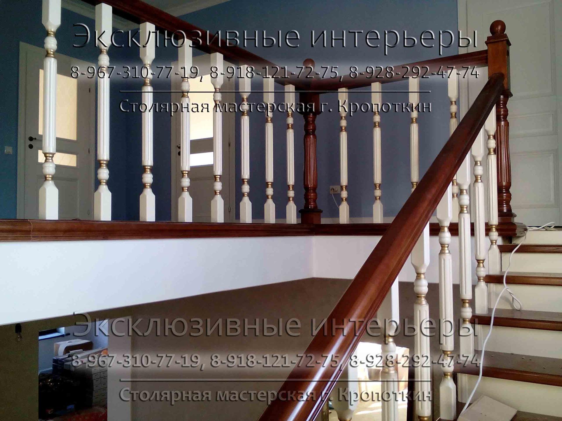 Деревянные лестницы для дома на второй этаж в Кропоткине Гулькевичи