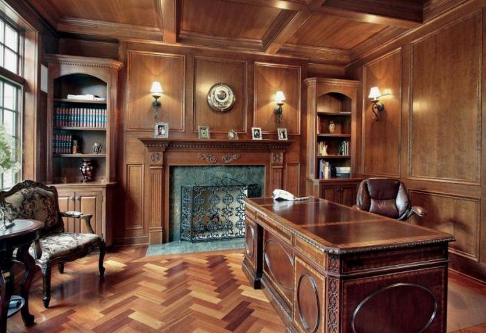 Ремонт и отделка кабинетов, кафе деревом и панелями в Сочи