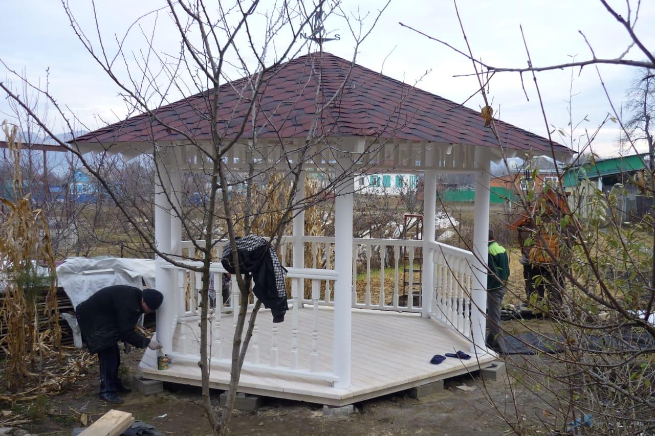 Построить деревянную беседку перголу навес в городе Кропоткин Краснодарского края