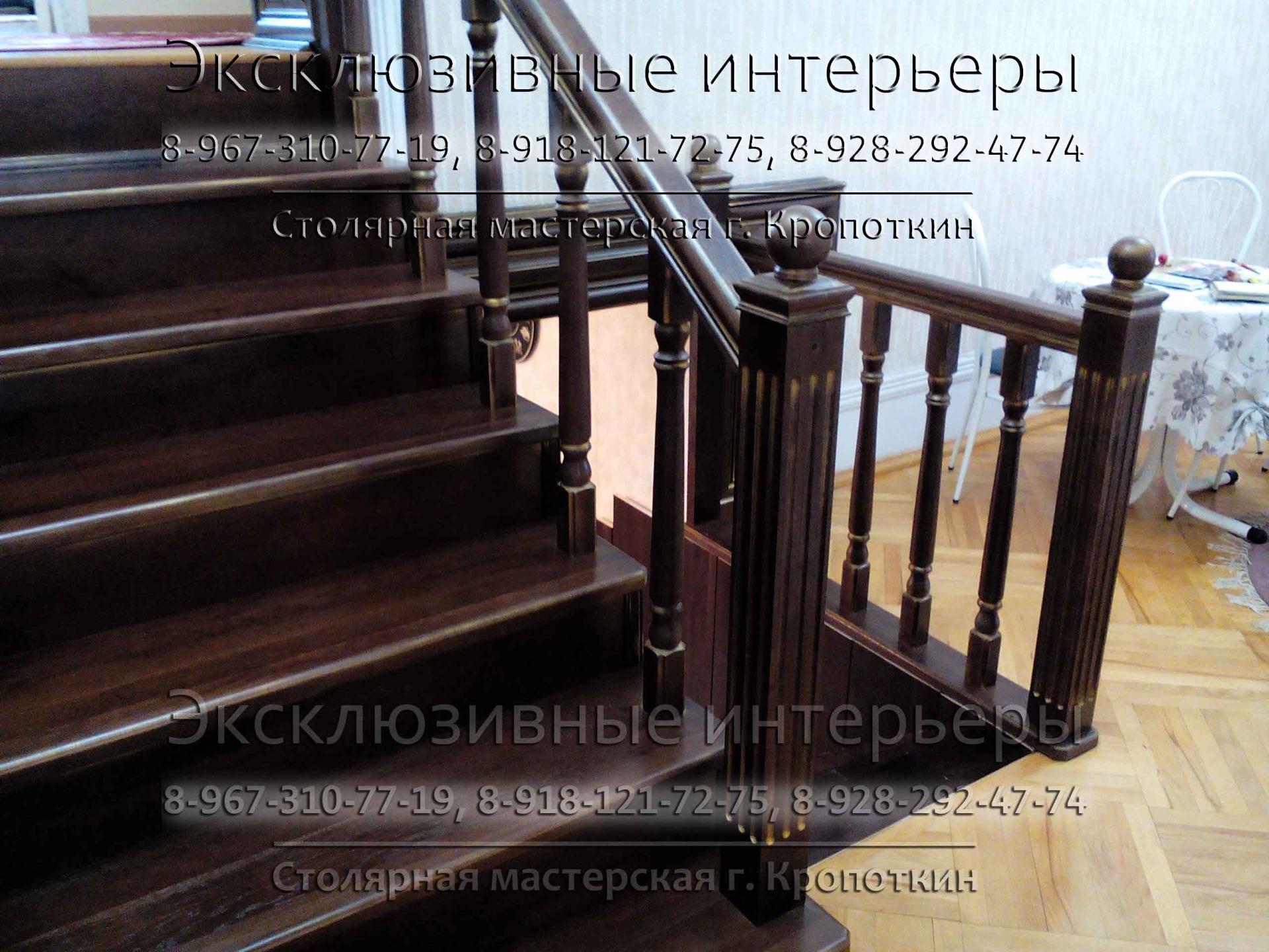 Изготовление лестниц из массива дуба, ясеня, бука в Кропоткине на заказ